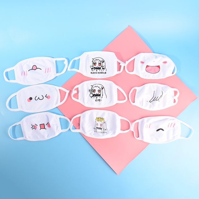 1Pc Face Mask Chic Anti Dust Mask Emotiction Masque Kpop Masks Kpop Cotton Cute Anime Cartoon Mouth Muffle Mouth Mask 2