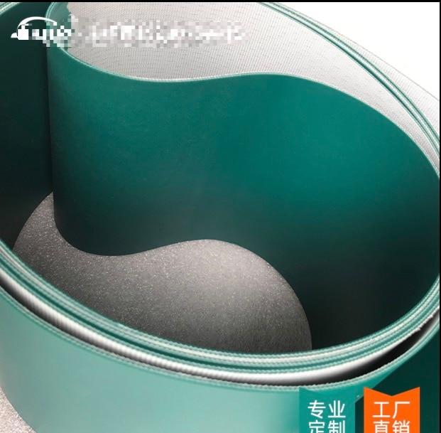1500x100x2 мм чернильная зеленая пищевая пу конвейерная лента