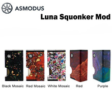 asMODus Luna Squonker Box Mod with a 6ml bottle powered by single 18650 battery