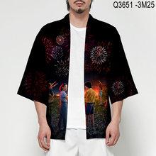 2021 модная одежда для мальчиков японское кимоно Аниме 3d печать