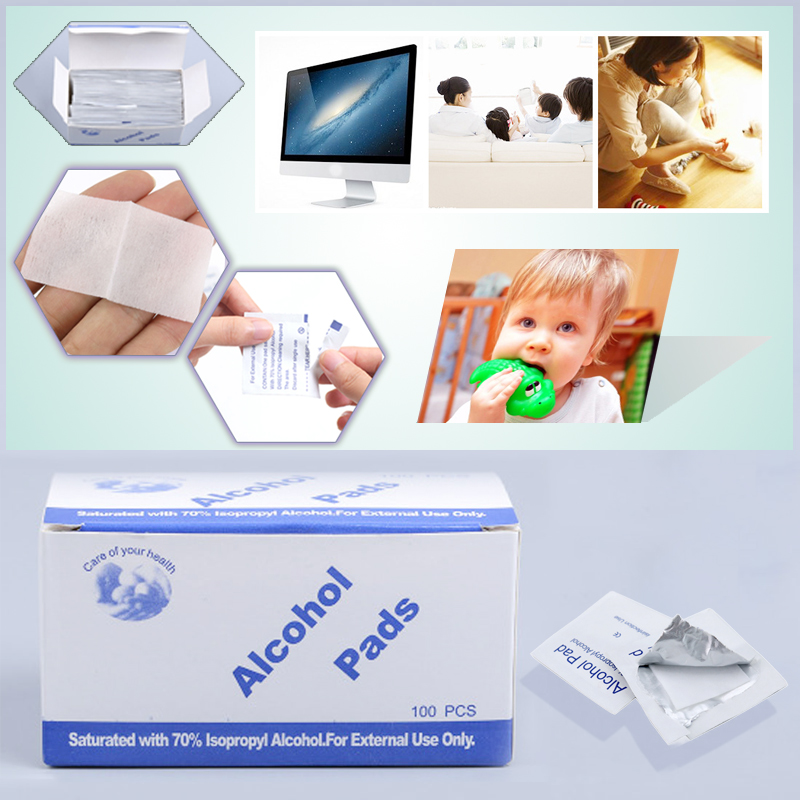 Brand 100 Pcs/Set Profession Alcohol Cotton Pad Anti Coronavirus Wet Cleaning Disposable Disinfection Antiseptic Antivirus