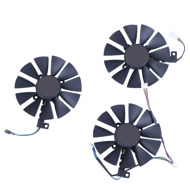 87MM PLD09210S12M PLD09210S12HH Cooling Fan Replace Cooler for ASUS Strix GTX 1060 OC 1070 1080 GTX 1080Ti RX 480 Image Card Fan image