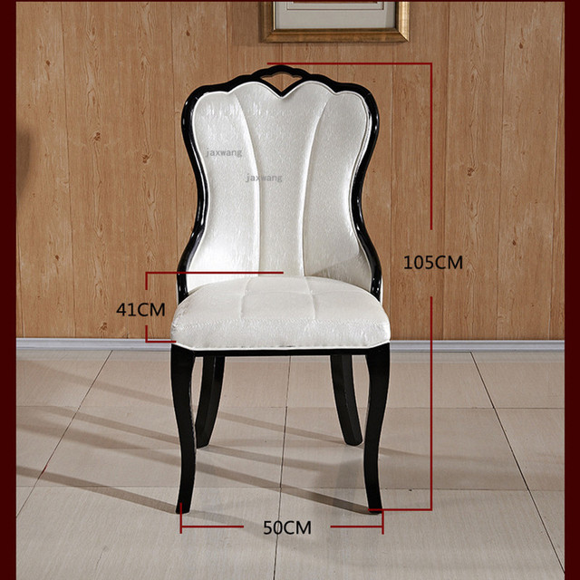European Style Solid Wood Dining Chair 5