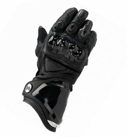Offres spéciales! Moto Dirt Bike équitation Moto course gants noir en cuir véritable hommes GP PRO gants