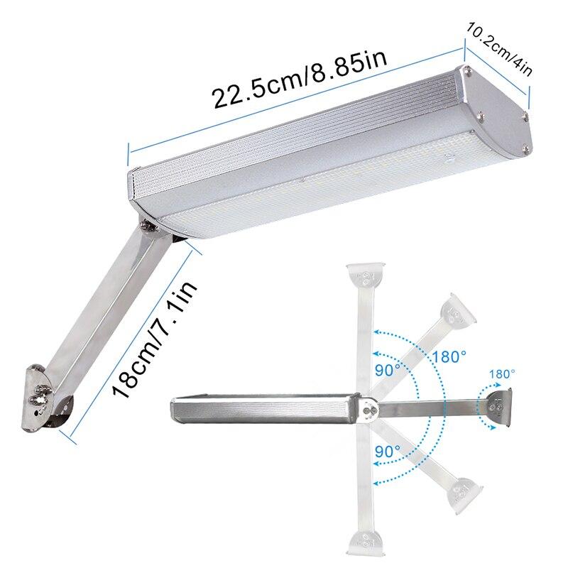 48 rotable levou luz solar escudo da liga de aluminio super brilhante lampada de iluminacao de