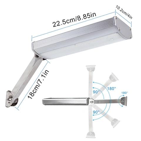 48 rotable levou luz solar escudo da liga de aluminio super brilhante lampada de iluminacao
