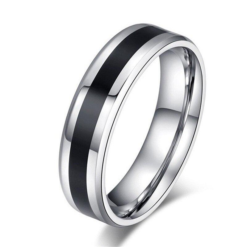 Stainless Steel Black Rings...