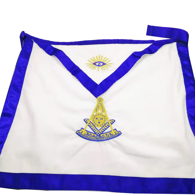 Wholesale Masonic Past Master White Cloth Craft Regalia Mark Hotel Mason Apron Royal Arch Mason Member Apron Scottish Etiquette