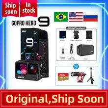 GoPro HERO 9 – caméra d'action sous-marine noire 4K 5K, avec écran avant couleur, caméra de sport avec Photos 20mp, diffusion en direct Go Pro HERO 9