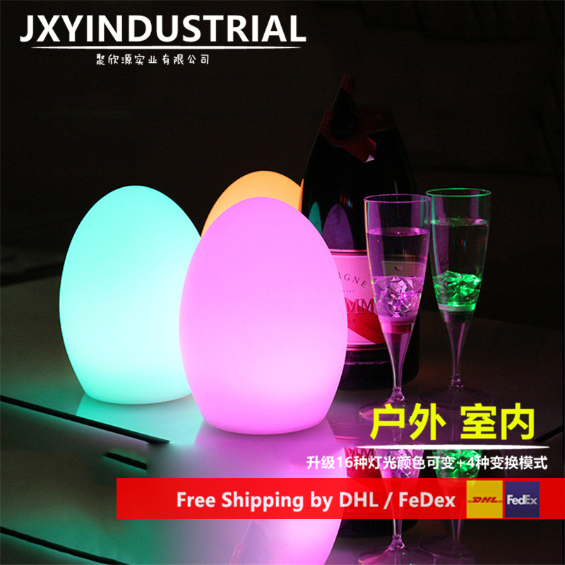 Table Lamp Egg Shaped Lamp Bar Counter Glass Mousse Led Bar Counter Lamp Remoter Change Colors