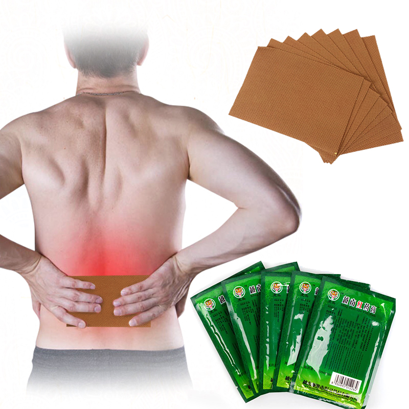 8Pcs/1pack Vietnam Red Tiger Balm Back Body Pain Relief Herbal Patch Medical Capsicum Joints