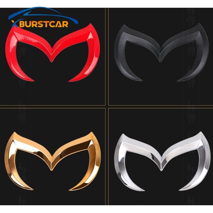3D Metal Bat Car Front Rear M Emblem Logo Badge Sticker Decal For Mazda 3 5 6