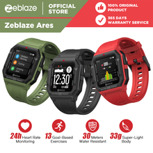 NEW 2021 Zeblaze Ares Smart Watch Bluetooth 5 1 Heart Rate Tracking Smartwatch 3 ATM 15Days Battery Life Watch For IOS amp Android cheap CN(Origin) None On Wrist All Compatible 128MB Passometer Fitness Tracker Sleep Tracker Message Reminder Call Reminder