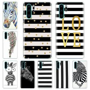 Животное в черно-белую полоску чехол для телефона Huawei Honor 20 10 9 9X 8A 8S 8X 7X 7A Lite рro 10I20I Y5 Y6 Y7 Y8 Y9 V20 V30 Y9S