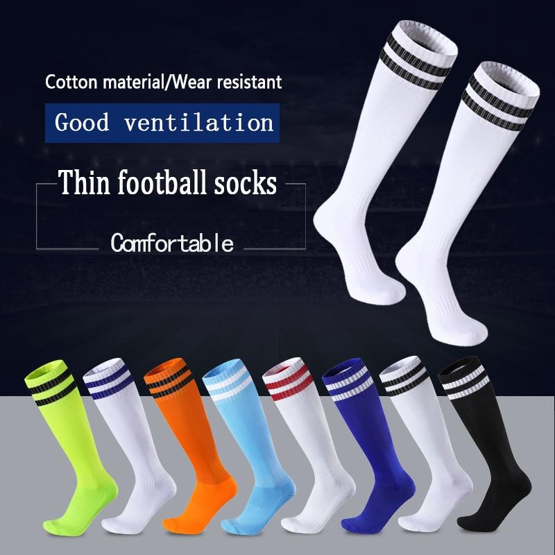 Hot Sports High Long Socks For Men Football Unisex Knee Striped Women