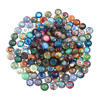 50Pcs 10mm/12mm14mm Colorful Mixed Round Mosaic Tiles for Crafts Glass Mosaic Supplies for Jewelry Making