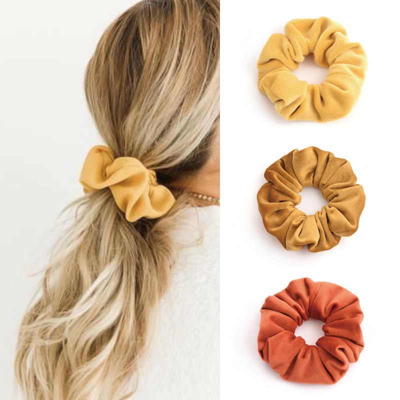 Bande élastique en velours pour femmes filles | Scrunchie élégante bande de caoutchouc, accessoires gomme, cravate cheveux corde, coiffure