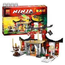 Compatível ninjatoes 70756 dojo showdown conjunto bela 10319 214 peças com 4 mini figuras blocos de construção brinquedos para crianças presentes do menino