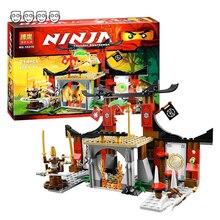 호환 Ninjagoes 70756 Dojo 마무리 세트 Bela 10319 214pcs 4 미니 피규어 빌딩 블록 어린이를위한 장난감 소년 선물