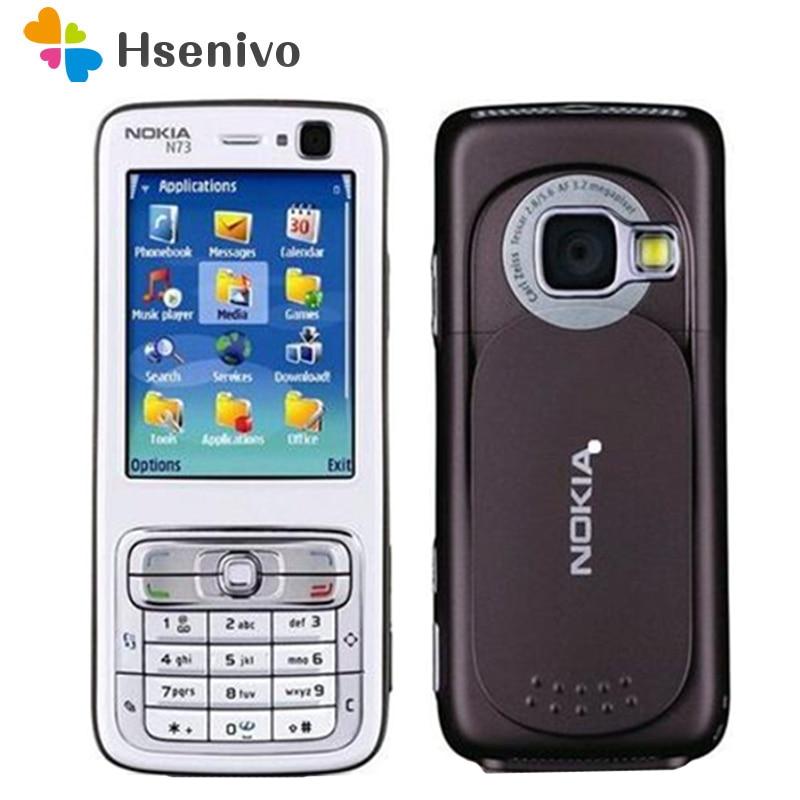 Original Nokia N73 Mobile Phone 3G GSM Bluetooth 3.15MP Unlocked N73 Refurbished & English Arabic Russian Keyboard Free Shipping