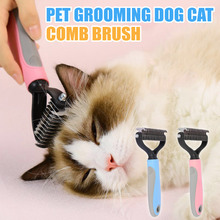 Pets Dot Cat Comb Hair Brush Pet Grooming Supplies Double Sided Fur Knot Cutter Cleaning Dog Grooming Tools Hair Removal Comb pet hair deshedding dog cat brush comb sticky hair gloves hair fur cleaning for sofa bed clothe pets dogs cats cleaning tools
