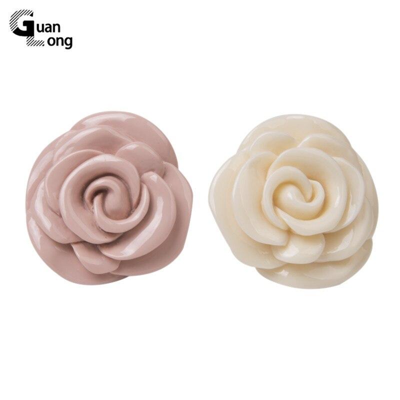Guanlong Acrylic Rose Flower Engagement Women's Rings Fashion Jewelry Resin Vintage Wedding Ring for Girls Female Punk Rings 3