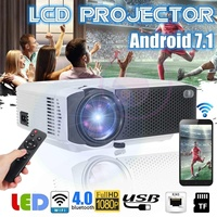 E400 Projector 1080P LCD Beamer 1600 Lumens USB Screen Mirroring Media Player Support HD Wireless Sync Display For Smart Phone