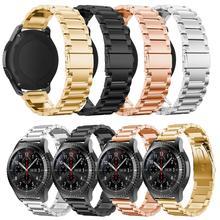 Bracelet de montre Samsung Galaxy, broches à dégagement rapide, 46mm/ 42mm, en acier inoxydable pour Gear Sport S2 S3 Frontier / Classic 20mm/22mm