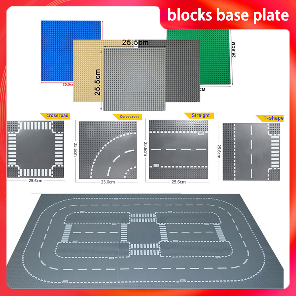 LegoINGlys Road Base Plates Street Bricks Baseplates Compatible LegoINGlys City Building Blocks Construction 7280 7281