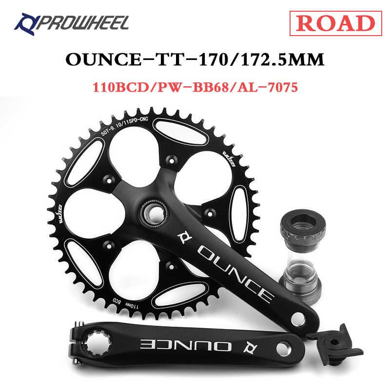 PROWHEEL Road Bike Crankset 9//10//11//12Speed 170//172.5mm Sprocket Crank set