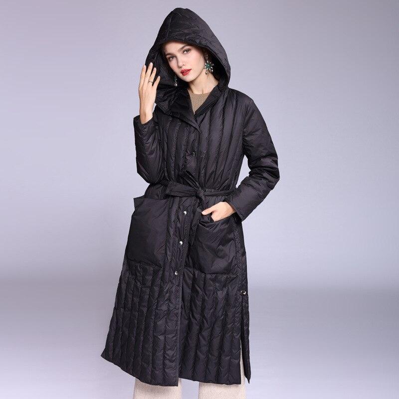 Women 39 s 90 white duck down jacket thick down jacket 2019New winter jacket hooded Korean women 39 s down jacket Doudoune Femme XL in Down Coats from Women 39 s Clothing