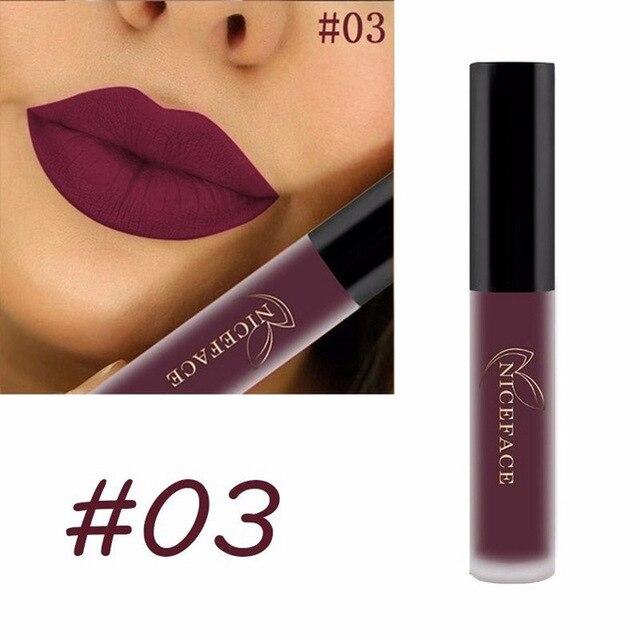 Matte Liquid Lipstick Waterproof Long Lasting Velvet Mate Nude Red Lip Gloss Lint Tube Makeup Cosmetics Lipsticks 3
