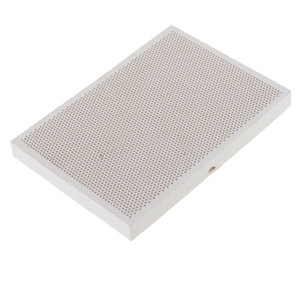Ceramic Insulating Firebrick 13.6x9.7x1.2cm Refractory Brick Thermal Welding Ceramic Brick - Honeycomb