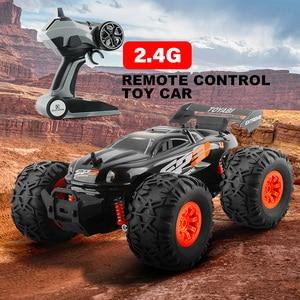 Image 3 - Carro rc 2.4g 1/18 monster truck carro de controle remoto brinquedos controlador modelo fora de estrada veículo caminhão 15 km/h controle de rádio carro de brinquedo carros