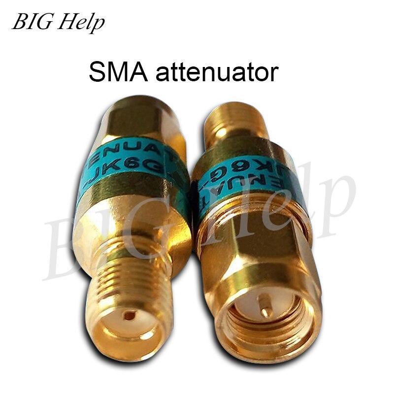 2WDC-6GHz SMA Attenuator Coaxial Fixed Attenuator 1 356 10 15 20 30 DB