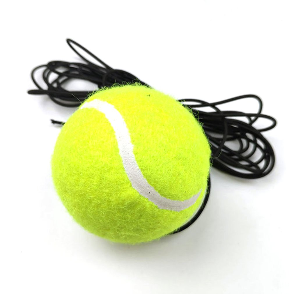 1PCS High Elasticity Tennis Training Ball Natural Rubber Woolen Sport Tournament Training Balls Training Supplies