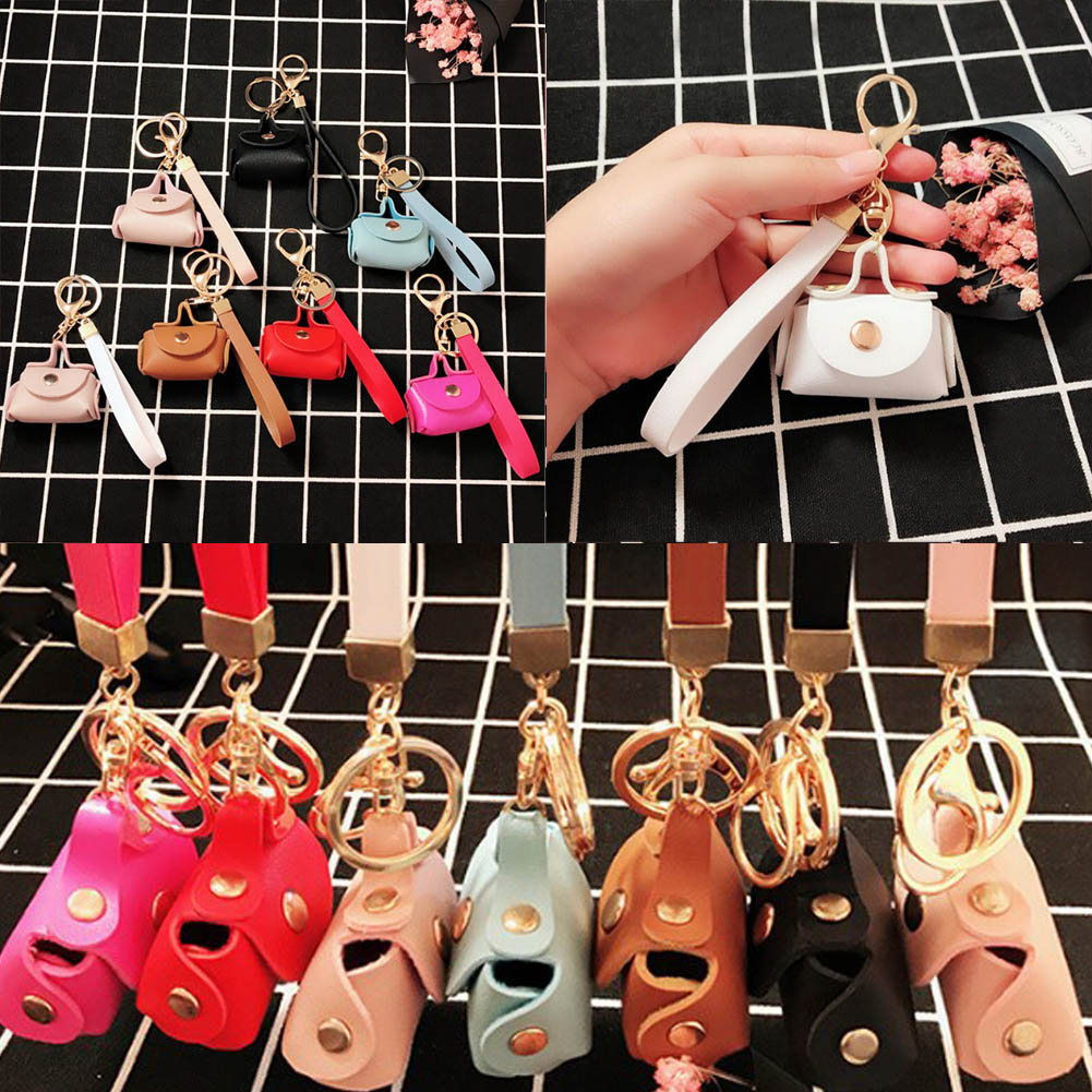 1 PC Fashion Bag Shaped Mini Coin Purse Zipper Small Handbag Decoration Bag Accessory PU Leather Bag Pendant Bag Ornaments