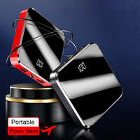 20000mAh Power Bank Dual USB Powerbank External Battery With LED Display Fast Portable Charger For Xiaomi huawei