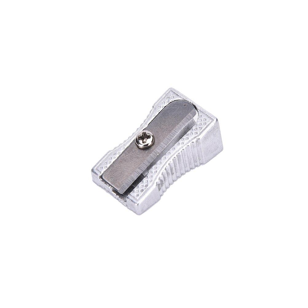 Sacapuntas de Metal de un solo agujero de 5 uds. Herramientas de  aprendizaje de escritura de dibujo de Metal accesorios escolares accesorios  de oficina Sacapuntas  - AliExpress