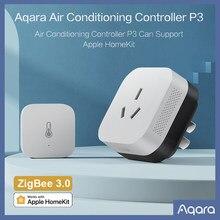 Aqara ar condicionado companheiro p3 com sensor de temperatura e umidade app controle remoto zigbee 3.0 para xiaomi mihome homekit