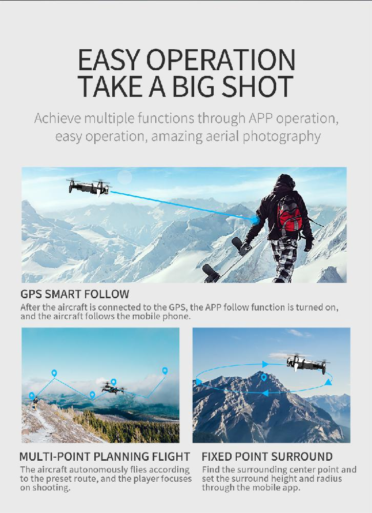 F8 Profissional FPV Vision 4K HD Camera Drone with Two-Axis Anti-Shake and GPS 31