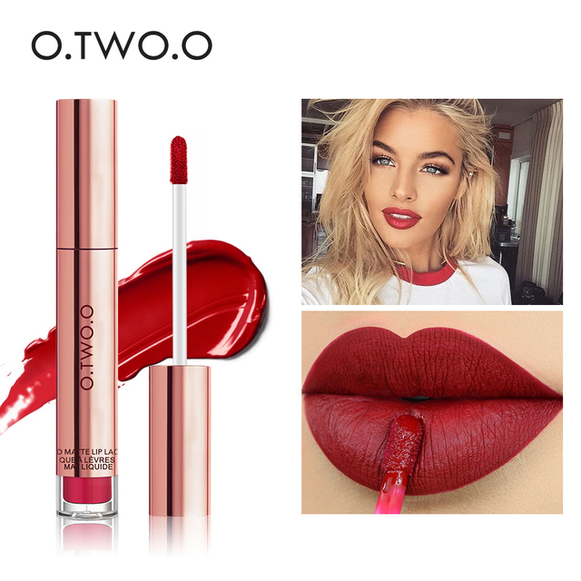 $ US $2.69 O.TWO.O 12colors Best Sale Hot Cosmetics Makeup Lip Gloss Long Lasting Waterproof Easy to Wear Matte Lipstick
