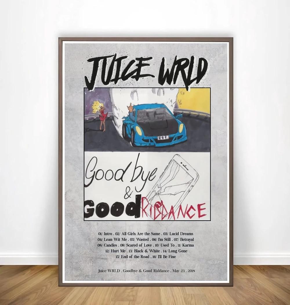 W1717 Juice WRLD Goodbye /& Good Riddance Poster 2020 Album 30 24x36 Silk Art