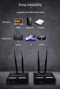 Image 5 - 1TX a 1 2 3 RX 100M 200M Wireless HDMI Extender trasmettitore ricevitore attraverso parete IR telecomando cavo HDMI estensione 1X3 Splitter