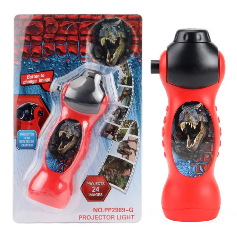 Динозавр Акула проектор игрушка фонарик спящий 24 узор раннее образование модель фонарь фонарик Ночная учеба изучение забавные игрушки