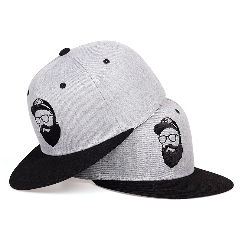 New Beard Old Man Embroidery Baseball Cap Fashion Summer Casual Snapback Caps Adjustable Wild Casual Hat Fashion Hip-hop Hats