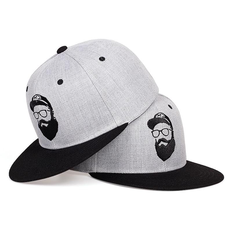 New Beard Old Man Embroidery Baseball Cap Fashion Summer Casual Snapback Caps Adjustable Wild Casual Hat Fashion Hip-hop Hats