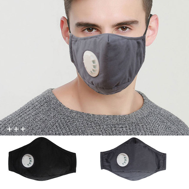 2020 New Cotton Washable Mouth Mask Anti Haze Dust Mask Nose Filter Windproof Face Muffle Bacteria Flu Fabric Cloth Respirator
