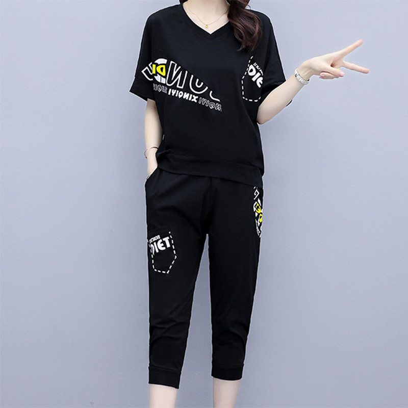 2020 Summer Clothes For Women Large Plus Size 5XL Sports Suit Top And Pant Two Piece Set Sportwear Tracksuit Matching Set Outfit