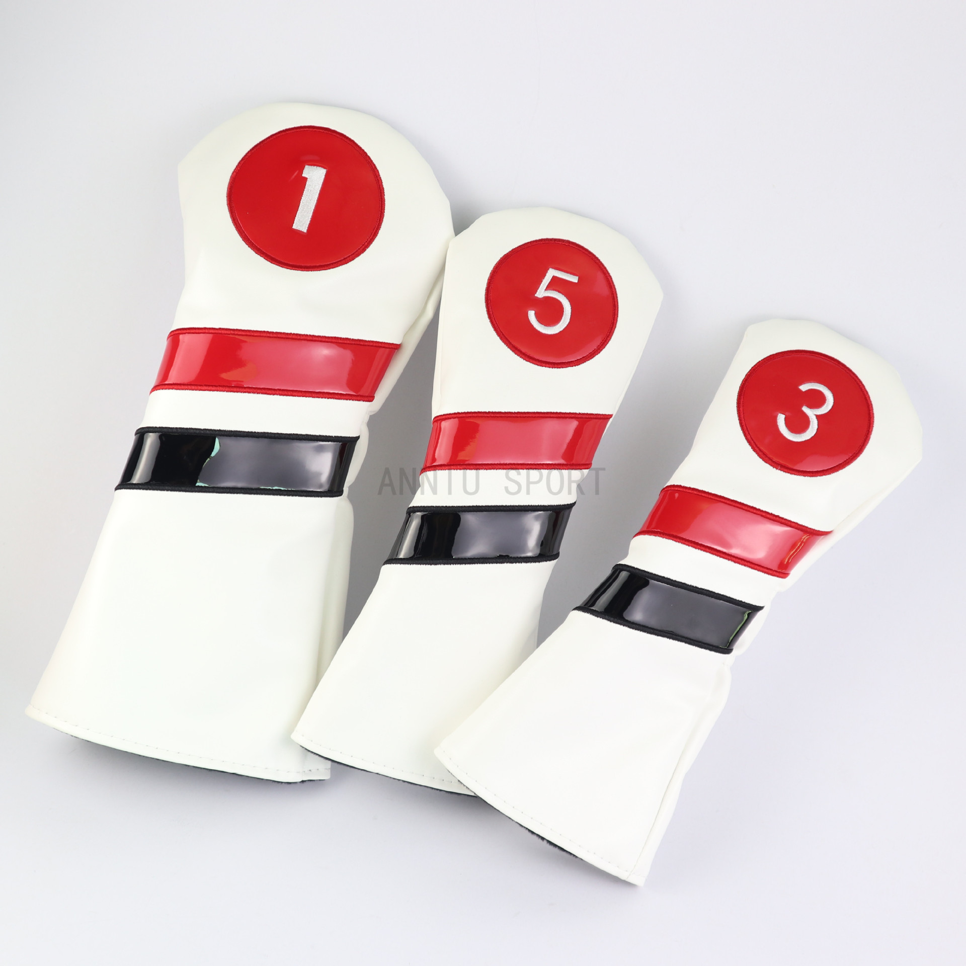 Manufacturers Direct Selling Cross Border Electricity Supplier Golf Club Sleeve Wooden Pole Sets Sleeve Head Covers One, Three,